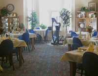 Alice Freeman's harp in the Dining Room of the Ivinson Home for Ladies in Laramie
