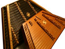 A Dusty Strings D550 and a James Jones Compact hammered dulcimer